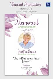 Memorial Service Invitation Wording Amazing Memorial Service Funeral Invitation Card Perfect Ideas Wording