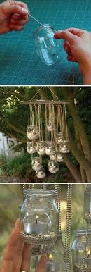 Outdoor lighting ideas for backyard Seating Outdoor Diy Tea Light Chandelier Hative 20 Amazing Outdoor Lighting Ideas For Your Backyard Hative