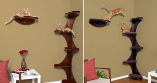 wall mounted cat furniture. Corner Modern Tree Cat Wall Mounted Furniture