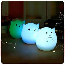 Night Lamp For Bedroom 2017 Cute Pig Led Usb Rechargeable Night Light Automatic Changing