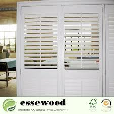china vinyl wrapped pvc sliding plantation shutter door for home china movable louver shutters sliding door shutters