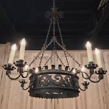 antique italian wrought iron chandelier