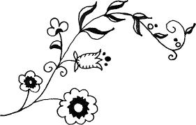 ポップでかわいい花のイラストフリー素材no1084手書き風