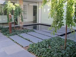 Bluestone pavers set in pea gravel or bluestone chip as pathway