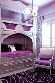 Purple Bedroom Chairs Charming Small Bedroom Decorating For Girl With Purple Wall Paint