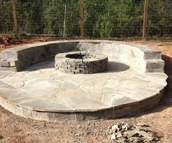 Stacked Stone Fire Pit stone veneer fire pit patio 11 steps with pictures 5572 by xevi.us
