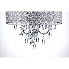 drum light with crystals 4 light round drum crystal chandelier ceiling fixture chrome finish