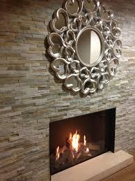 feature oyster split face fireplace wall tiles naturalstone metallics neutrals claddingpanelsboard