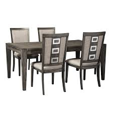 signature design by ashley chadoni 5 piece rectangular table and chair set item number