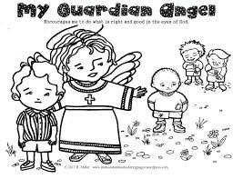 Guardian Angel Coloring Pages Guardian Angel Prayer Coloring Page