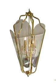 modern chandelier brass and glass