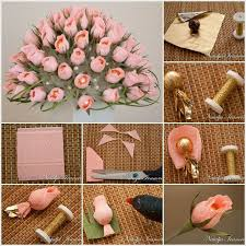 Making Flower Using Crepe Paper Diy Beautiful Chocolate And Crepe Paper Flower Bouquet