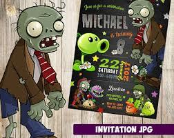 Printable zombie birthday party invitations ~ Printable zombie birthday party invitations ~ Minecraft birthday party invitation best party ideas