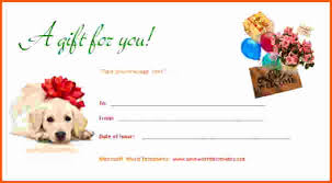 Dog Gift Certificate Template Creative Advice