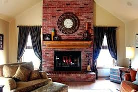 Red Brick Fireplace Decorating Ideas Update The Color Of Your Stained  Wall Living Room With