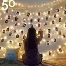 White Indoor Fairy Lights Amazon Com Homecor 50 Led Photo Clip String Lights Fairy