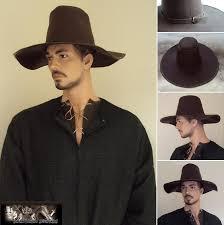 renaissance period wide brim heavy leather hat 5078 p jpg