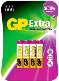 Купить <b>Батарейки GP Extra AAA</b> (4 шт) по выгодной цене в ...