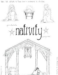 Manger Coloring Nativity Scene Coloring Pages Printable Baby In A