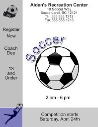 soccer team brochure template soccer flyer word template ldlm info