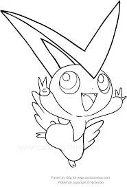 Disegno Di Victini Dei Pokemon Da Colorare