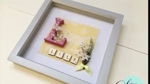 how to make box frame baby gift diy gift idea