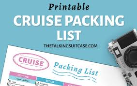 Cruise Packing List 20 Things To Pack For A Cruise Plus Printable Packing List For Cruise