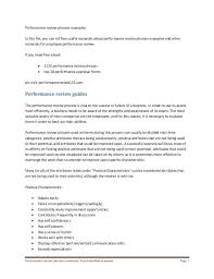 Writing Effective Performance Appraisals Examples In