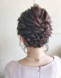 結婚式の髪型はアップスタイルで長さ別お呼ばれヘアアレ Hair