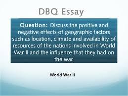 Ww2 dbq essay