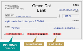 routing number of green dot bank