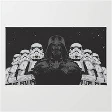 classic star wars stormtroopers darth vader area rug