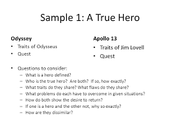 the odyssey and apollo after watching the movie compose an sample 1 a true hero odyssey apollo 13 traits of jim lovell quest