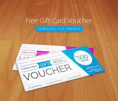 free gift card voucher template psd freebie