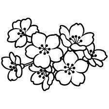 桜 デザイン 白黒の画像検索結果 仕事素材 桜イラスト無料