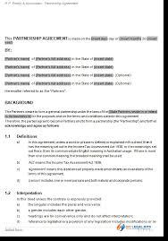 Sample Partnership Agreement Form General Partnership Agreement Business Partners Contract