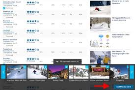Utah Ski Resort Comparison Chart Ski Resort Compare Tool See Side By Side Stats