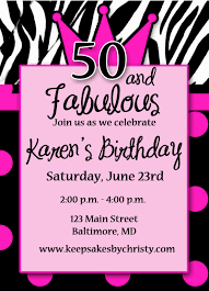 50th birthday invitation templates cloudinvitation