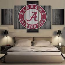 >5 piece alabama crimson tide canvas wall art paintings for sale it  alabama crimson tide it make your day