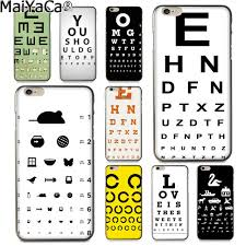 Eye Chart On Phone Us 1 41 29 Off Maiyaca Test Eye Chart Newest Fashion Luxury Phone Case For Apple Iphone 8 7 6 6s Plus X 5 5s Se Xs Xr Xs Max Cover In Half Wrapped