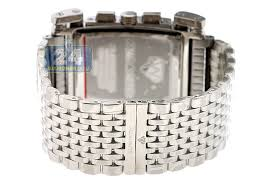 aqua master bicycle diamond mens silver watch