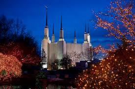 Mormon Tabernacle Washington Dc Christmas Lights Washington D C Temple At Christmas