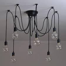 modern nordic retro edison bulb light chandelier vintage loft antique adjule diy e27 art spider pendant lamp home lighting in pendant lights from lights