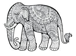 Elephant Mandala Coloring Pages Easy Pdf Pattern Enjoy Inspiring