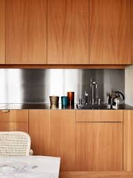 modern kitchen cabinet without handle. Modern Kitchen Cabinets No Handles Tehranway Decoration · Neat And Clean Stainless Steel Back Splash Accents Sleek Cabinet Without Handle