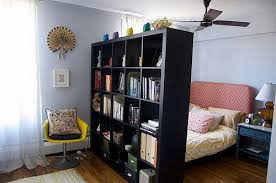 Freestanding Bookshelf Wall Apartment Room Divider Ideas