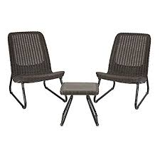 fire pit and chairs. Modren Pit Keter Rio 3 Pc All Weather Outdoor Patio Garden Conversation Chair U0026 Table  Set Furniture Brown Inside Fire Pit And Chairs