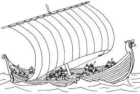 Viking Longship Coloring Pages Print Coloring