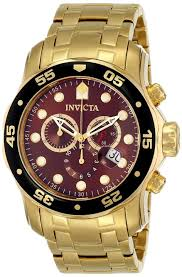 18k gold watches for men best watchess 2017 watches men gold invicta mens pro diver s swiss chronograph