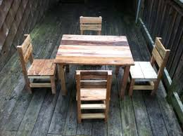 pallet furniture table. regained pallet table and chairs furniture c
